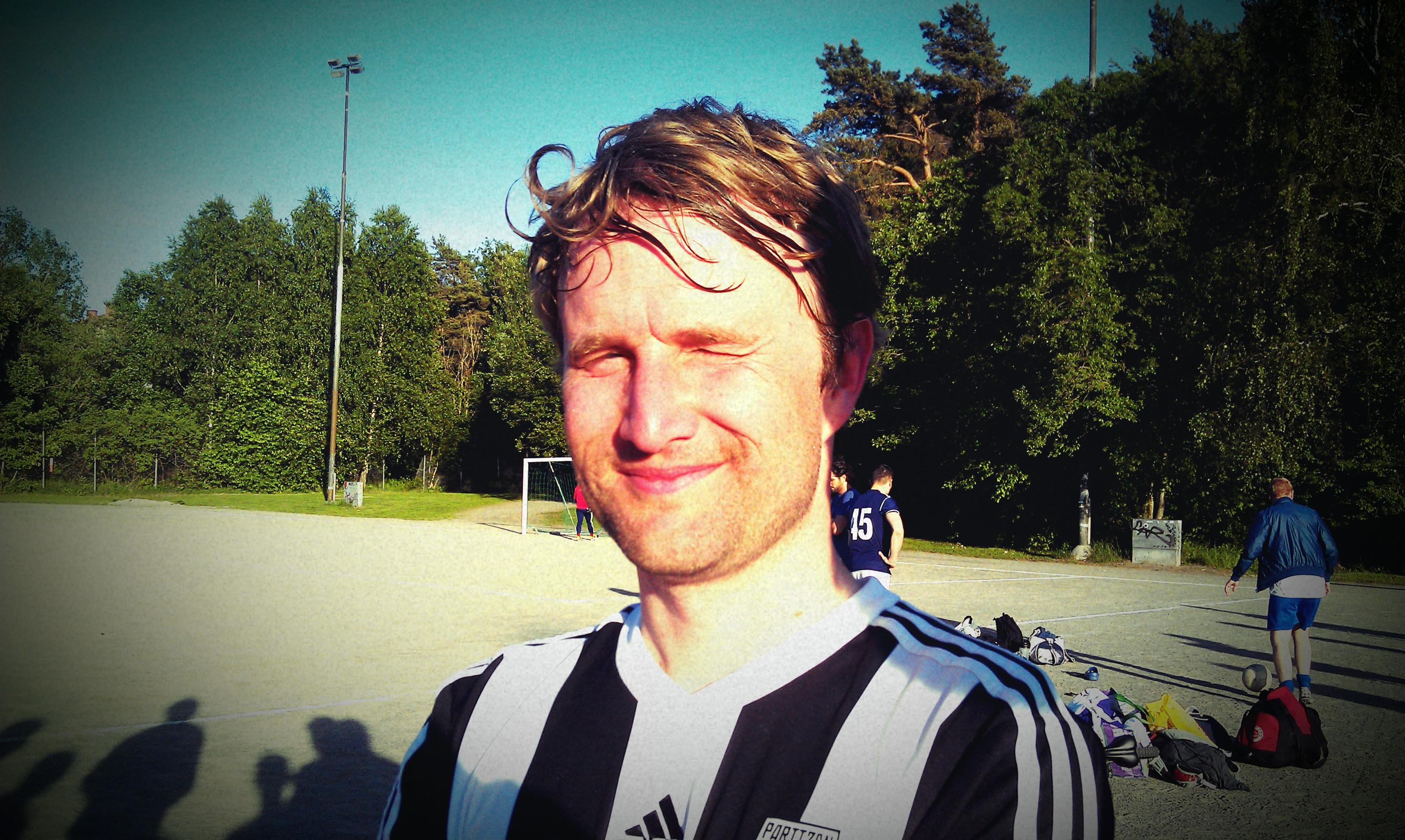 Partizans tranare efter matchen